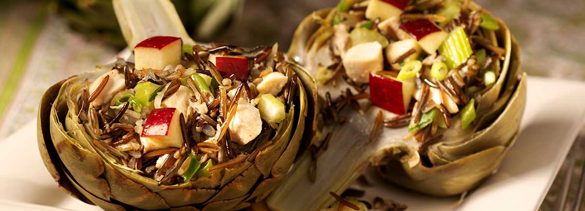 Supreme Rice - Artichokes Stuffed with Chicken and California Wild Rice