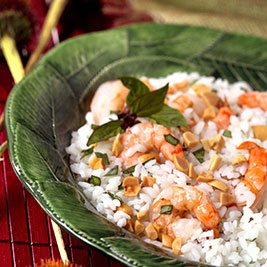 Bangkok Rice and Shrimp Salad