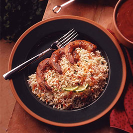 Barbecued Shrimp with Spicy Rice