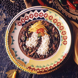Black Bean Soup with Rice