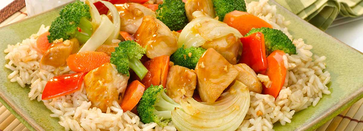 Supreme Rice - Brown Rice with Sizzling Chicken and Vegetables*