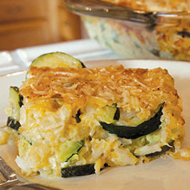 California Rice and Zucchini Casserole