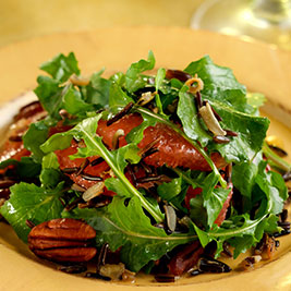 California Wild Rice, Arugula, Grapefruit and Toasted Pecans