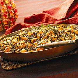 California Wild Rice and Pumpkin Gratin