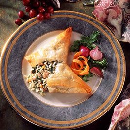 Chicken Phyllo Wraps
